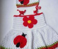 10 modelos originales de vestidos a crochet para niñas