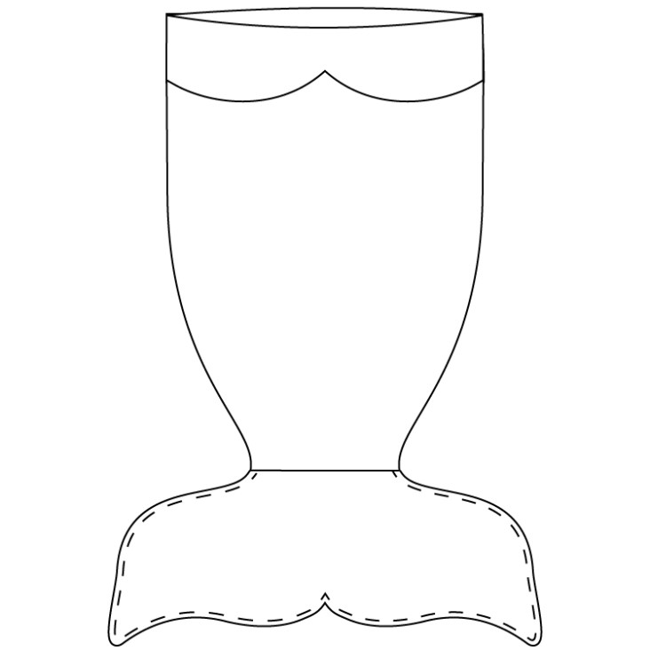 Como hacer una manta de cola de sirena con moldes