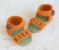 Patron para hacer unas sandalias para bebe de 0 a 6 meses
