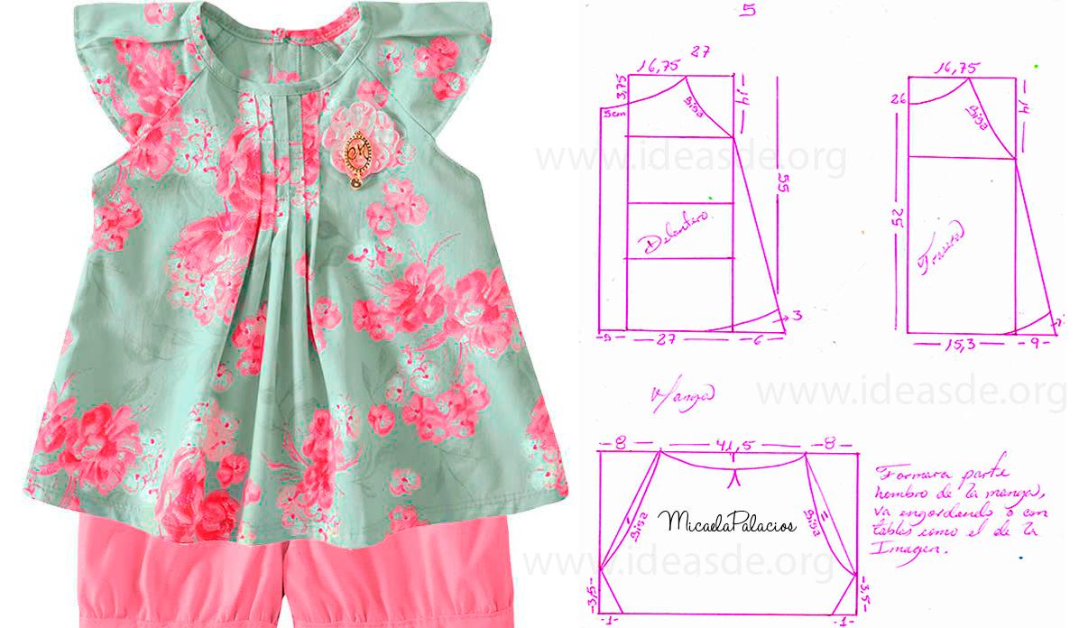 Patrones para hacer un vestido de niña de 5 años