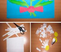Como hacer una tarjeta con margaritas de papel paso a paso