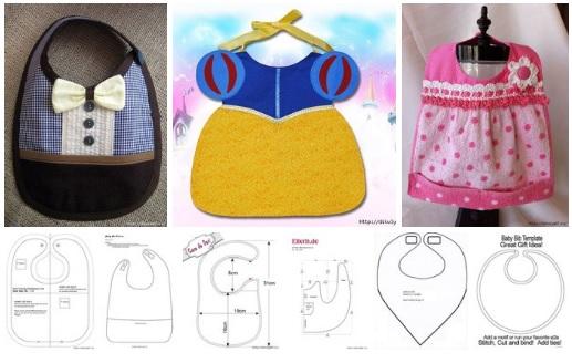 patrones para hacer baberos para bebes originales