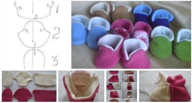 Molde para hacer botines para bebe de tela paso a paso - Hacer bolsos de tela paso a paso ...