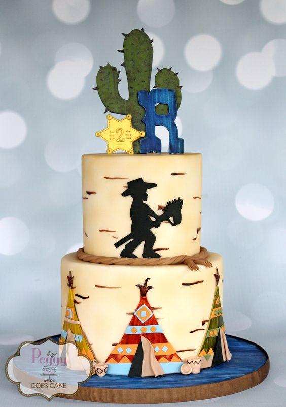 10 Ideas de pasteles estilo vaqueros
