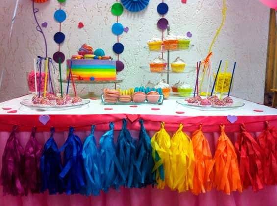 mesa decorada fiesta tematica arcoiris05