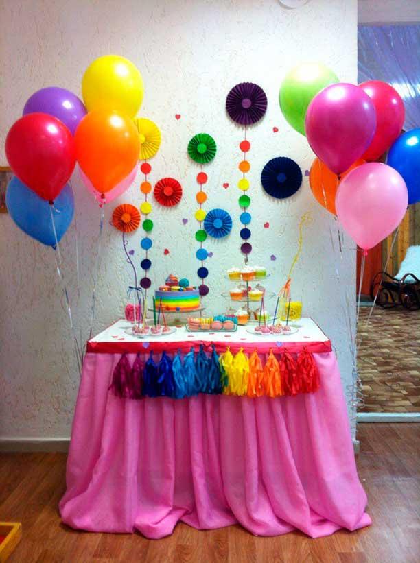mesa decorada fiesta tematica arcoiris04