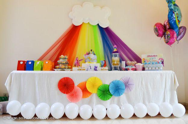 mesa decorada fiesta tematica arcoiris03