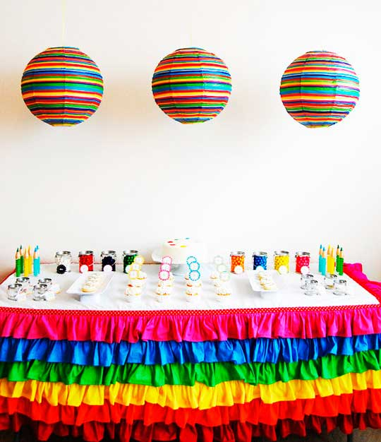 mesa decorada fiesta tematica arcoiris07
