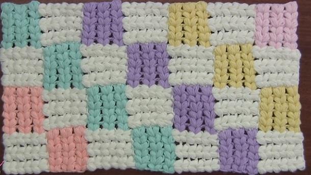 Como hacer punto entrelac a crochet Videos tutorial 01