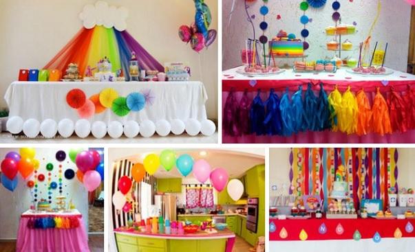 Mesas dulces Para Cumpleaños Arco Iris