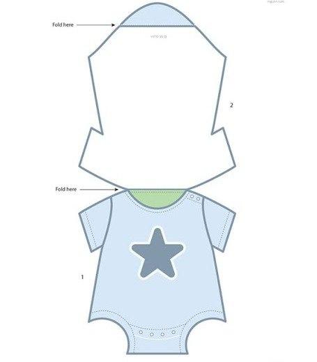 Moldes para hacer invitaciones de baby shower