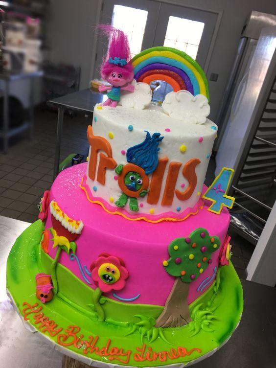 Pasteles de los trolls para fiestas infantiles03