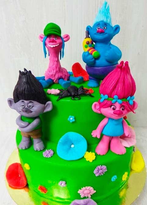 Pasteles De Los Trolls Para Fiestas Infantiles