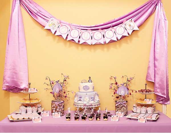 decoracion de princesa sofia para cumpleaños-mesa09