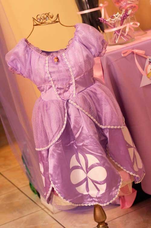 decoracion de princesa sofia para cumpleaños-vestido02