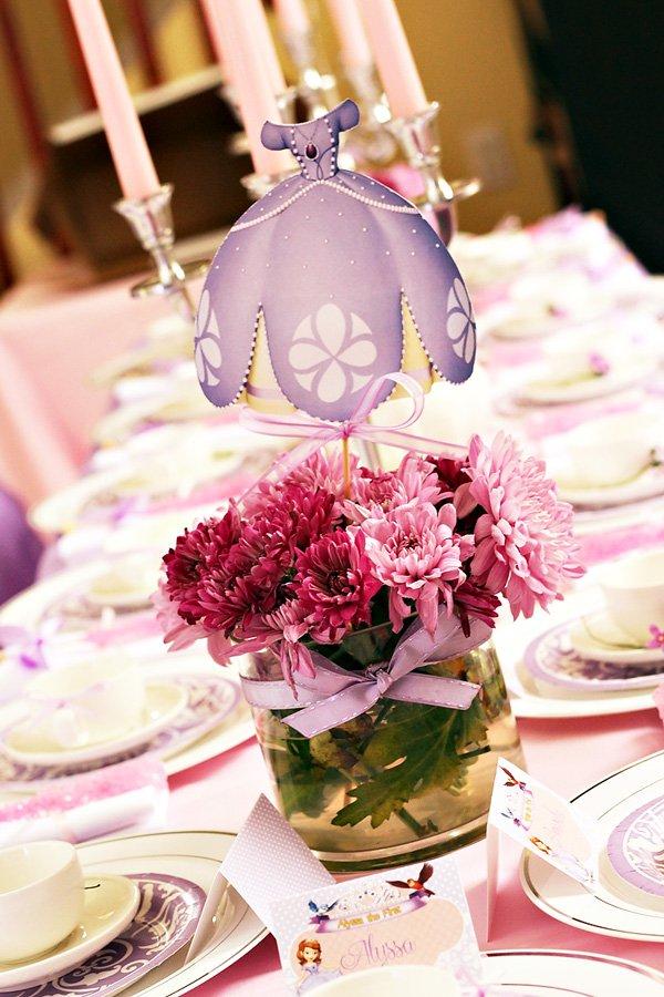 decoracion de princesa sofia para cumpleaños12