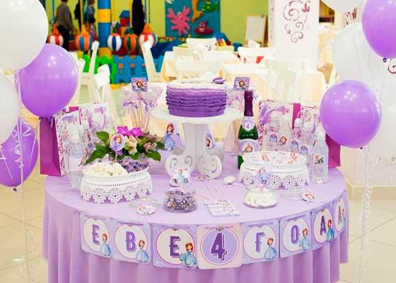 Decoraciones de Globos para Fiestas de la princesa sofia01