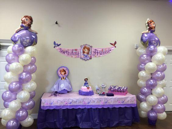 Decoraciones de Globos para Fiestas de la princesa sofia02