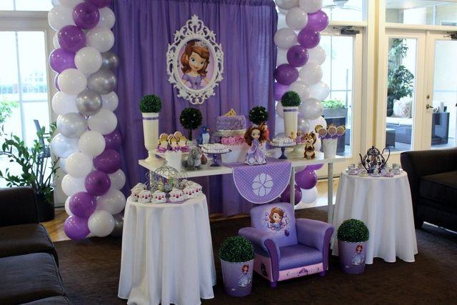 Decoraciones de Globos para Fiestas de la princesa sofia011