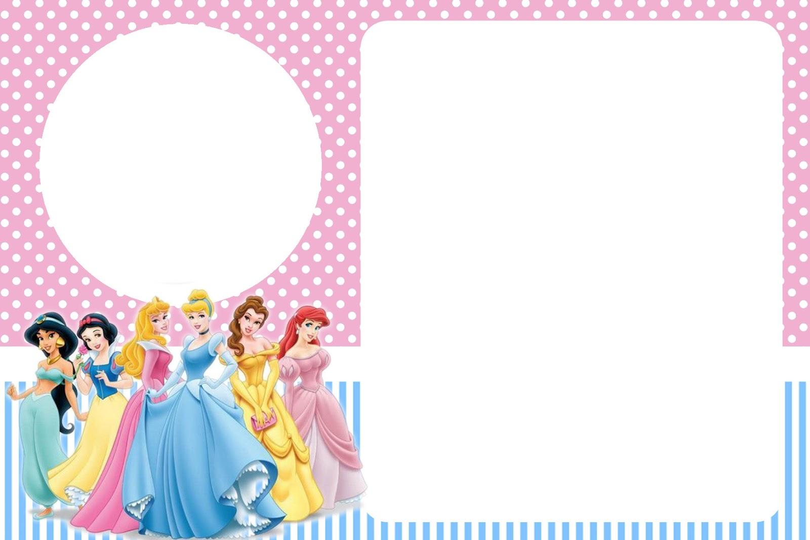 invitacion de princesas para imprimir