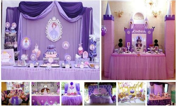mesa de dulces para fiestas infantiles princesa sofia