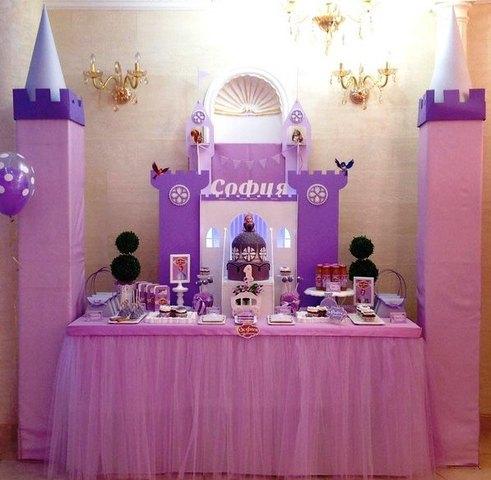 mesa de dulces para fiestas infantiles princesa sofia03