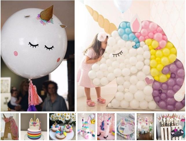 decoracin de fiesta de cumpleaos de unicornio