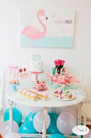 Decoracion para fiesta tematica flamingos01