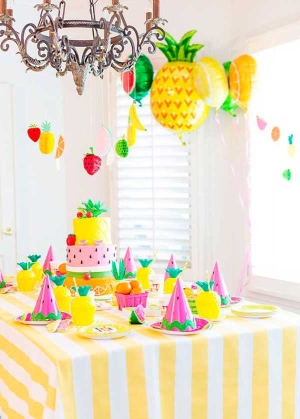 Decoraci n para fiesta tem tica frutas for Decoracion para pared fiesta