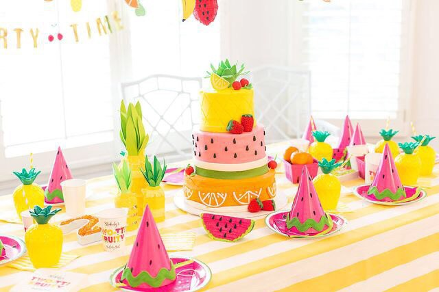Decoraci n para fiesta tem tica frutas for Como secar frutas para decoracion