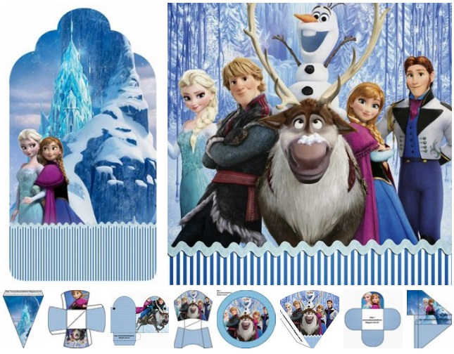 Frozen Imprimibles Gratis para Fiestas tematica