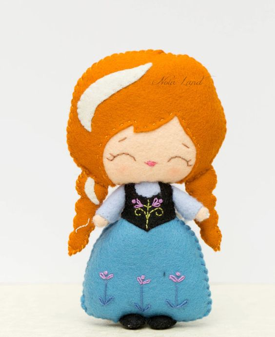 الگوی نعلبکی با نمد Muñecas de Princesas en fieltro
