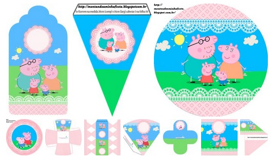 Imprimibles de pepa pig pink