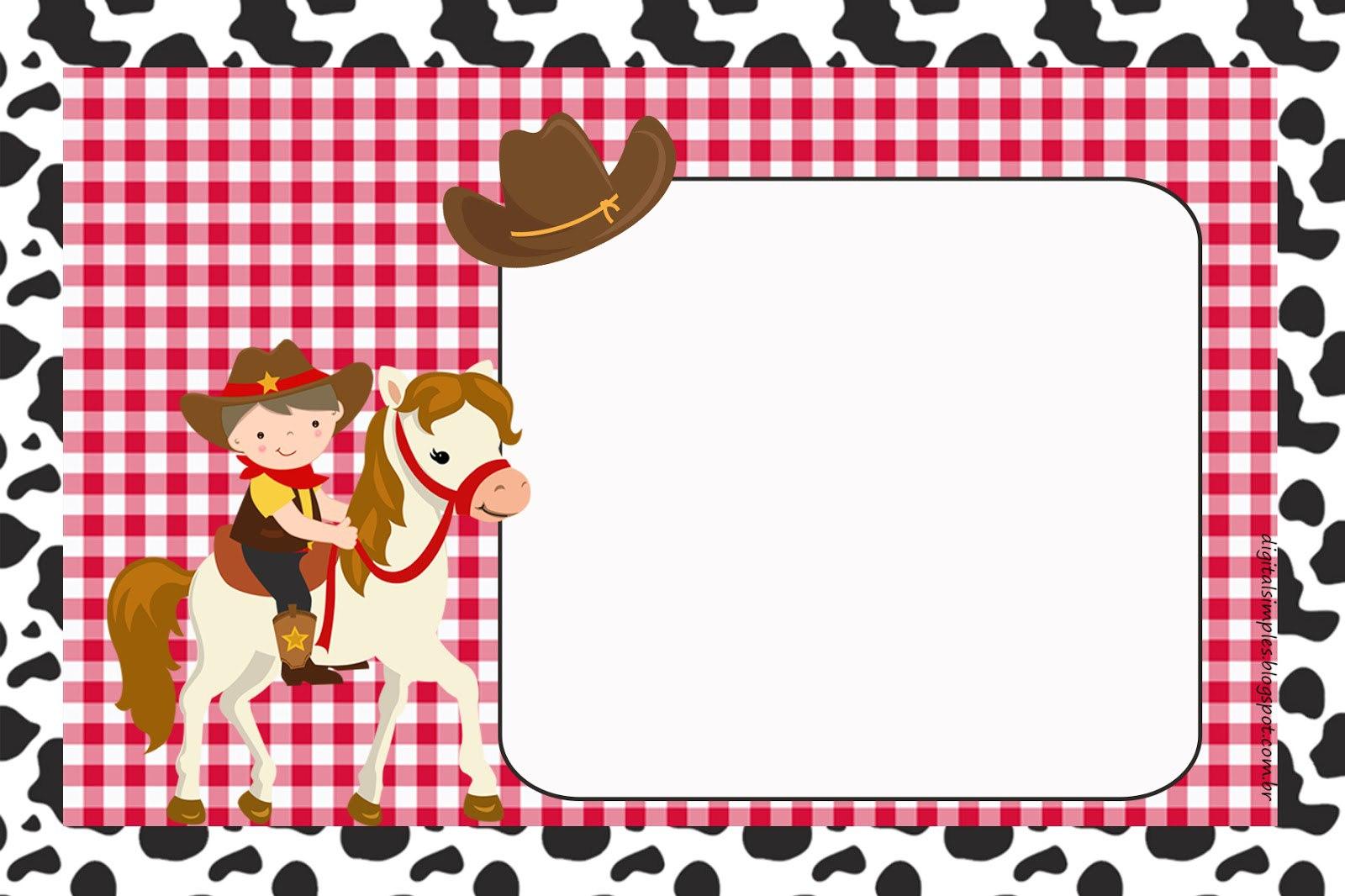 Plantillas para fiesta de vaqueros gratis para imprimir - Plantillas pared ...