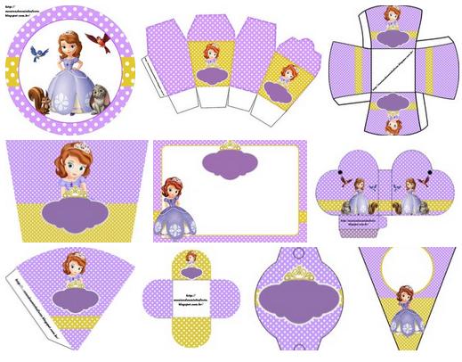 Princesa Sofía: Imprimibles Gratis para Fiestas