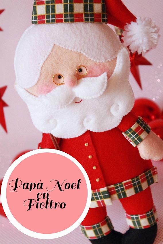 Como hacer papa noel de fieltro for Hacer papa noel grande