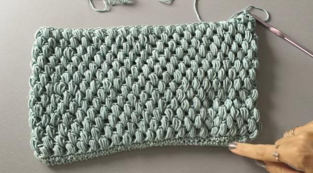 6df1fa287 Como hacer un neceser en punto garbanzo tejido en crochet