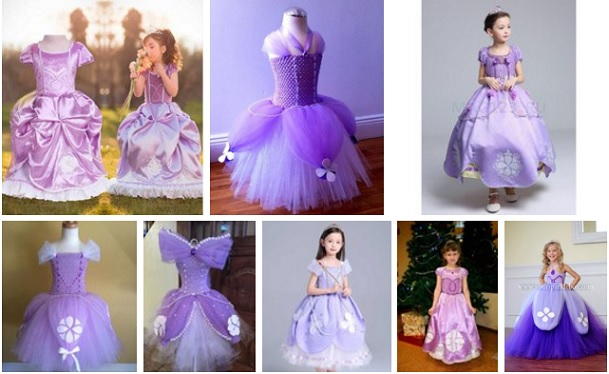 vestidos princesa sofia cumpleaños