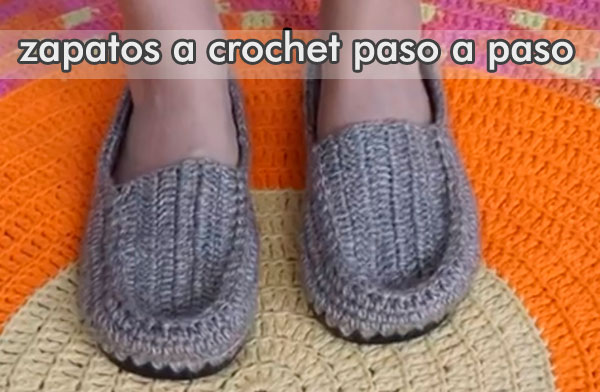 Zapatos Crochet Paso Como Hacer A XOPkw8n0