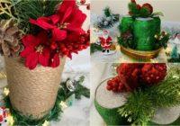 centros de mesa navidad manualidad