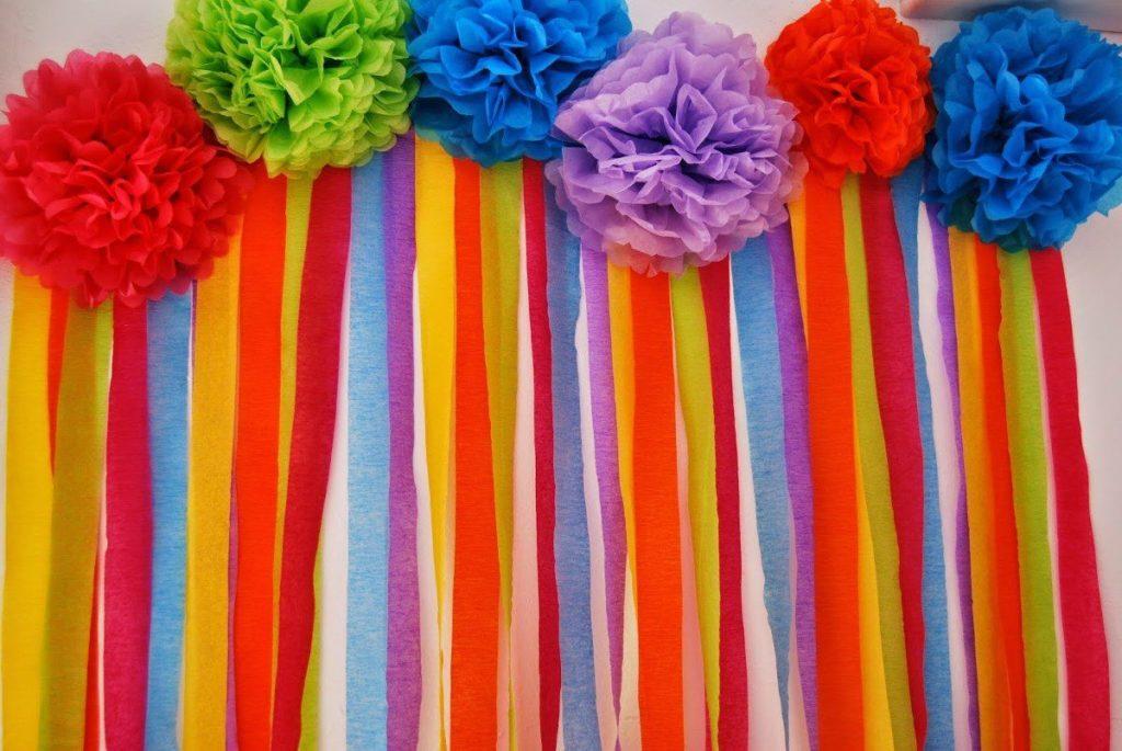 cortinas papel crepe